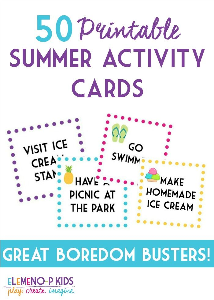 Have fun this Summer with these free printable summer activity cards!