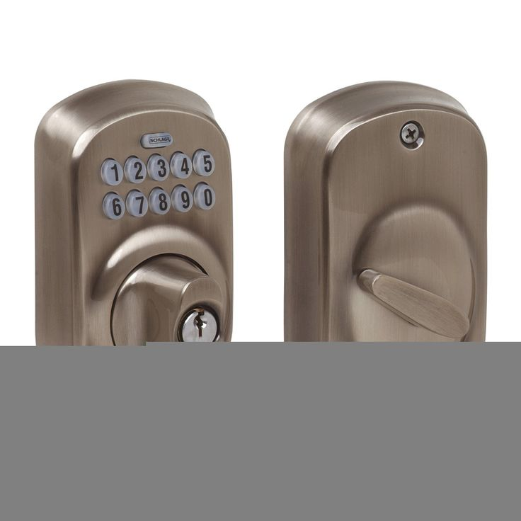 Schlage Plymouth Antique Pewter Keypad Deadbolt -