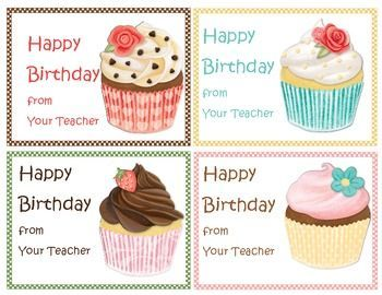 Make your students' birthdays extra special with this Birthday Bonanza Pak. Included is: Happy Birthday from your Teacher POSTCARDS Birthday HOMEWORK PASSES in 4 different cupcake designs BOOKMARKS SPECIAL REWARDS coupon that your customize with a privilege appropriate for your classroom.