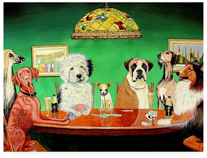 Trademark Global Patrick Sullivan Dogs Playing Poker Canvas Art 19 5 X 26 Reviews All Wall Decor Home Decor Macy S Artist Canvas Canvas Art Dogs Playing Poker