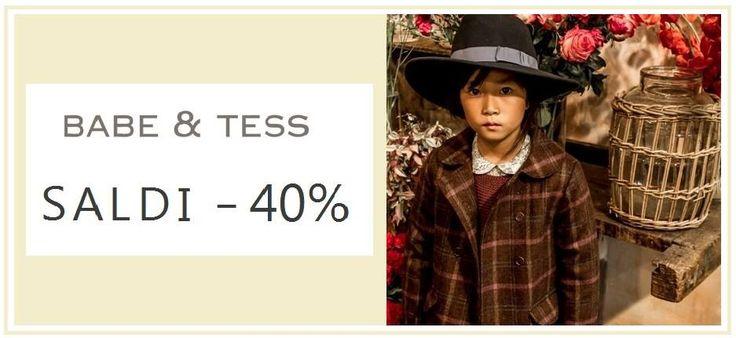 - 40%   !!!    Saldi online Babe & Tess: -40% da www.cocochic.it Shop now!   E-COMMERCE BAMBINI : IL NUOVO CONCEPT STORE MINIMAL CHIC