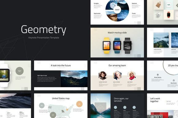 Geometry Keynote Template by ReworkMedia on @creativemarket