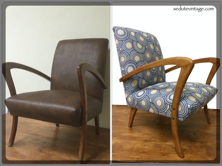 poltrona anni 20 - 1920s armchair - by SEDUTE VINTAGE