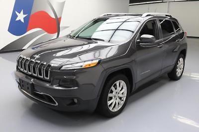 eBay: 2014 Jeep Cherokee Limited Sport Utility 4-Door 2014 JEEP CHEROKEE LIMITED PANO SUNROOF HTD LEATHER 27K #237961 Texas… #jeep #jeeplife