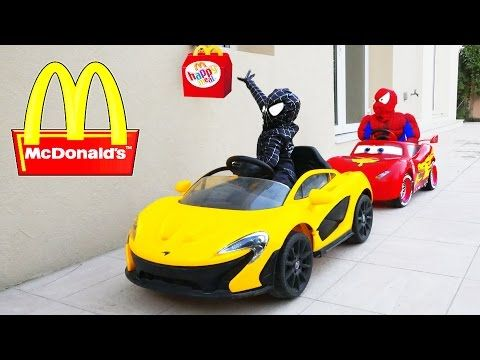 SPIDERMAN KFC DRIVE THRU Prank! w/ Joker Venom Hulk Movie Kids Toys Cars in Real Life - YouTubenzuz