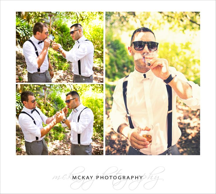 Alex lights up a cigar- wedding photography Clontarf Beach & Zest at the Spit Mosman - by McKay Photography  http://www.mckayphotography.com.au  #zest #wedding #groom#weddingphotography