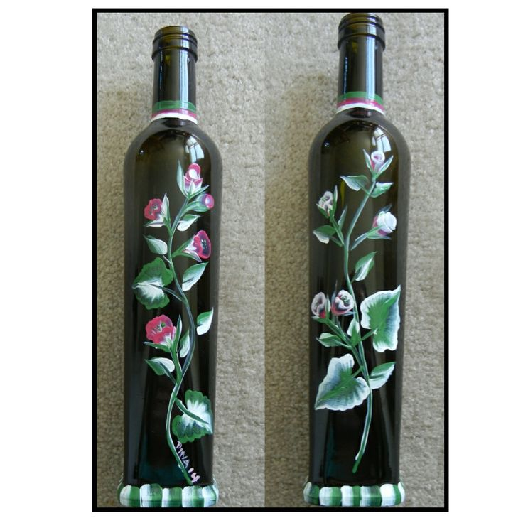 61 best hand painted wine bottles images on pinterest for Hand painted glass bottles