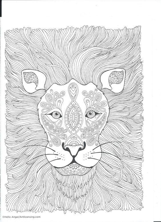 358 best coloring lion tiger images on pinterest