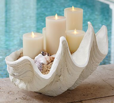 how about this beautiful piece sitting om your bathroom ? Giant Clam Shell #potterybarn