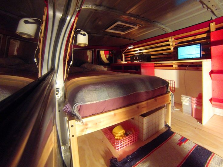 Like The Homemade Bed Easy To Put Items Underneath That Are Needed Outside When Conversion VanCamper