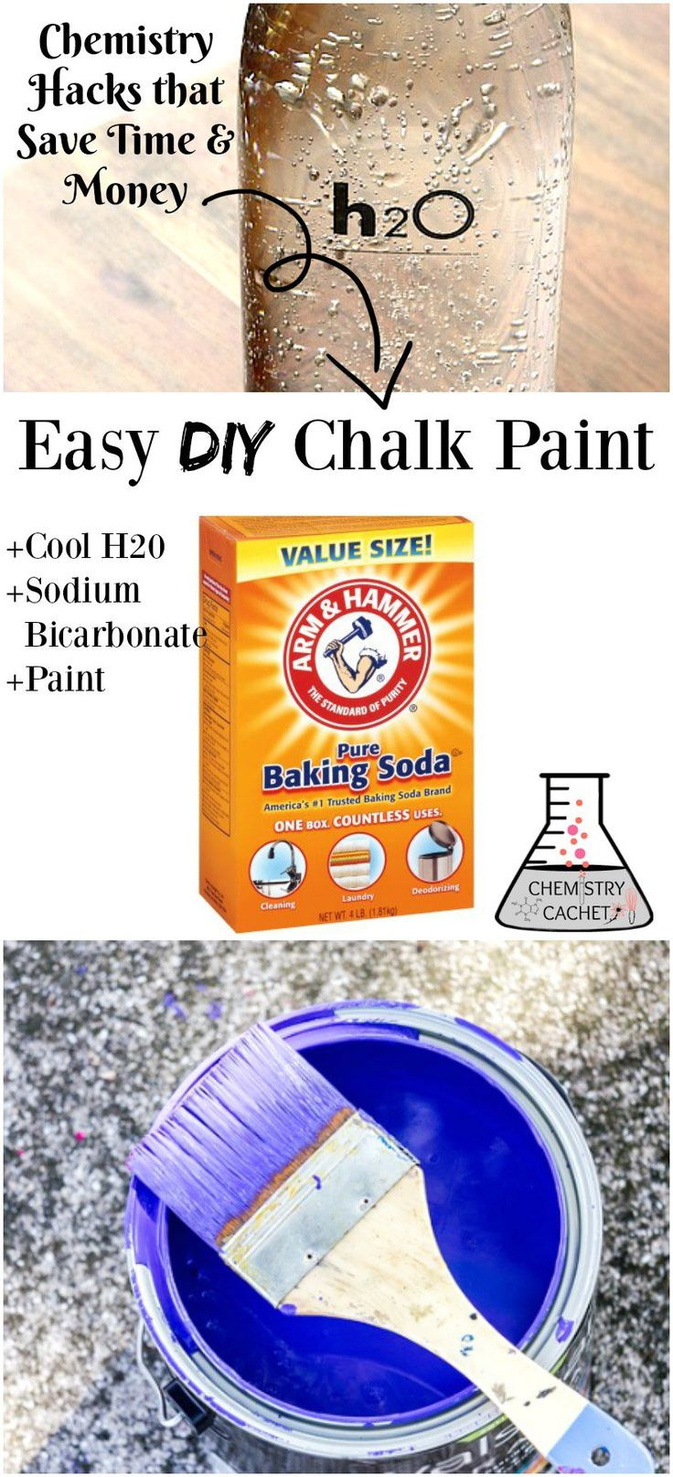 8 Mind-blowing Chemistry Tips that Save Time & Money...like making your own chalk paint the easy way on chemistrycachet.com