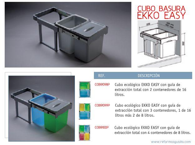 Mejores 30 im genes de cocina basura en pinterest cubo - Cubos de basura extraibles ...