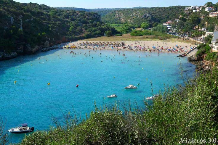 Vista panorámicas desde mirador de Cala en Porter en Menorca