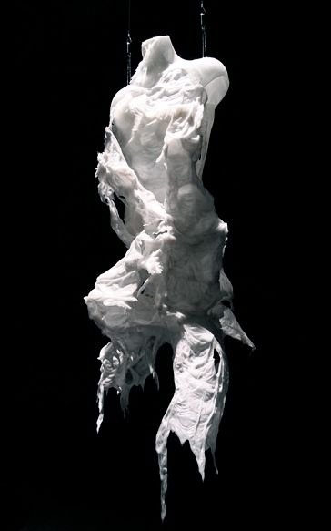 Bart Hess | garments created by lowering a person into a pool of water and wax