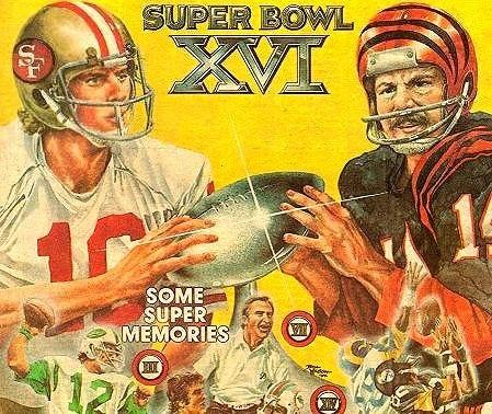 Super Bowl XVI, San Francisco 49ers vs the Cincinnati Bengals