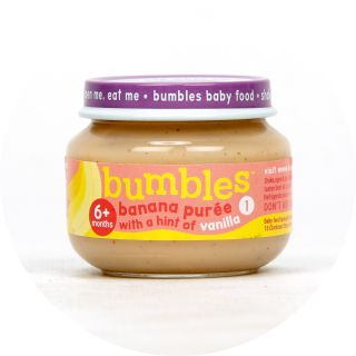 Bumbles™ Baby Food Banana Purée with a hint of Vanilla on bumbles.co.za