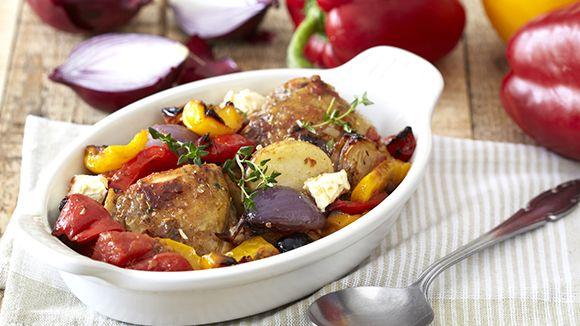 Greek Chicken, Tomato and Feta Bake