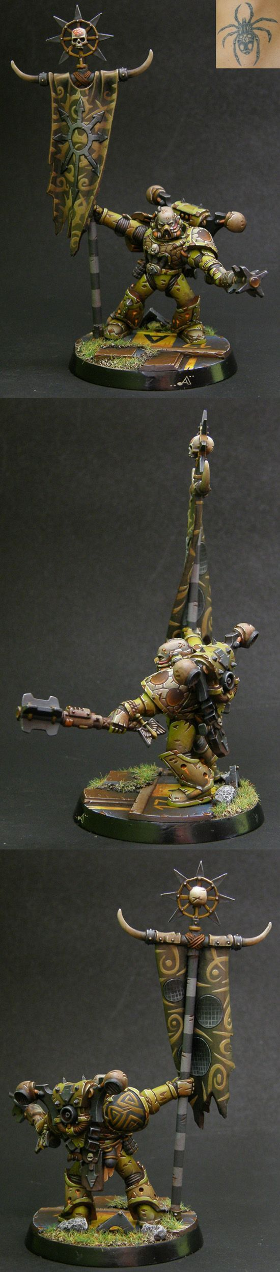 CoolMiniOrNot - Chaos Space Marine of Nurgle by Artur