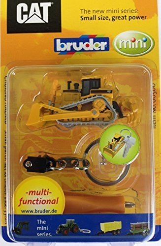 Bruder Mini CAT Bulldozer with Key Ring and Screwdriver