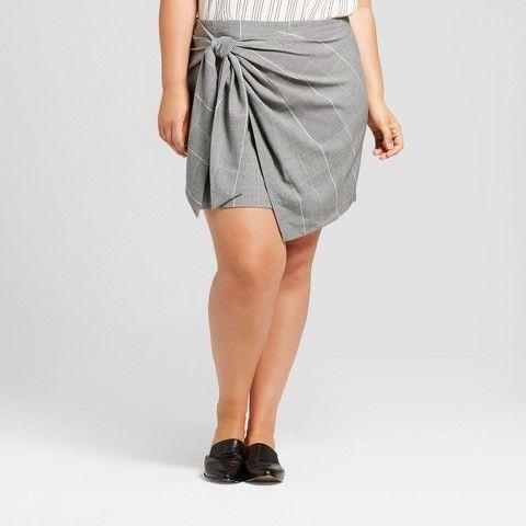 Who What Wear Women's Plus Size Mini Skirt