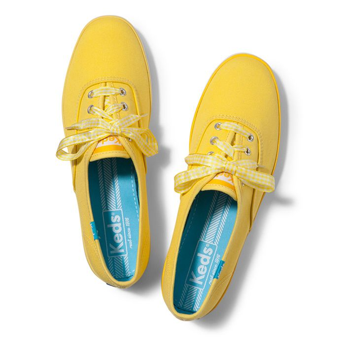 Champion Gingham Lace. Color Shown: Brite Yellow