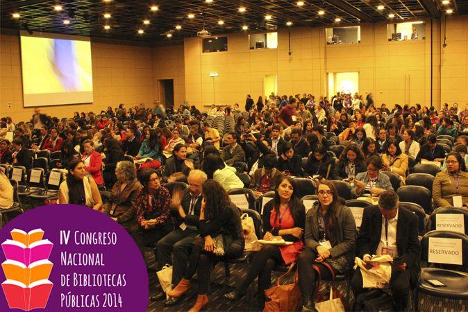 Registro fotográfico del desarrollo del IV Congreso Nacional de Bibliotecas Públicas, realizado en Bogotá los días 14, 15 y 16 de octubre de 2014.