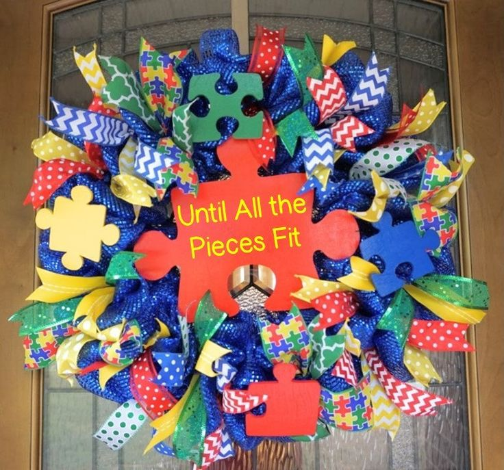 Autism Wreath, Classroom Wreath, School Wreath, Classroom Door Hanger, Autism…