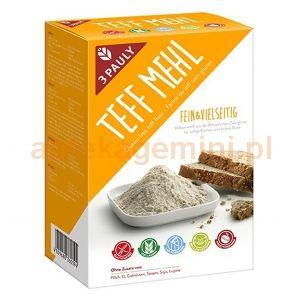 3 PAULY, mąka z teffu, bezglutenowa, 800g