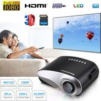 Wish | Excelvan® HOT LED LCD Projector 480*320 USB VGA  Home Theater Multimedia Player