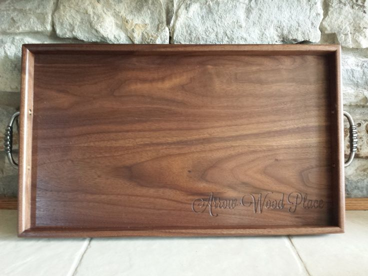 Walnut Serving Tray by 8th Line Creations