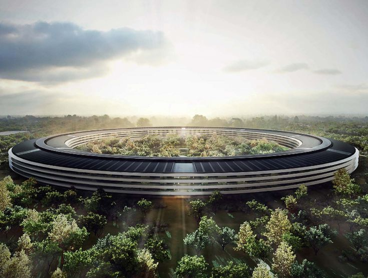 inside apple's cupertino spaceship campus by foster   partners - designboom | architecture