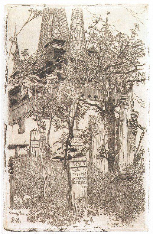 A magyarvalkói temető 1908 in: Malonyai Dezső: A magyar nép művészete