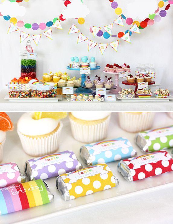 Taste the Rainbow Party Printable Collection via lilblueboo.com