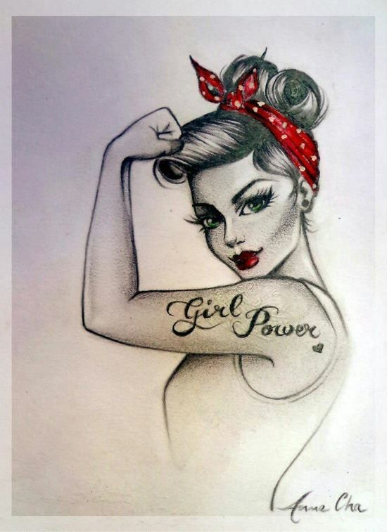 Pin up drawing, fabulous. I want this for a tattoo! Want want want! Loveeee it! Stay strong                                                                                                                                                                                 Mais