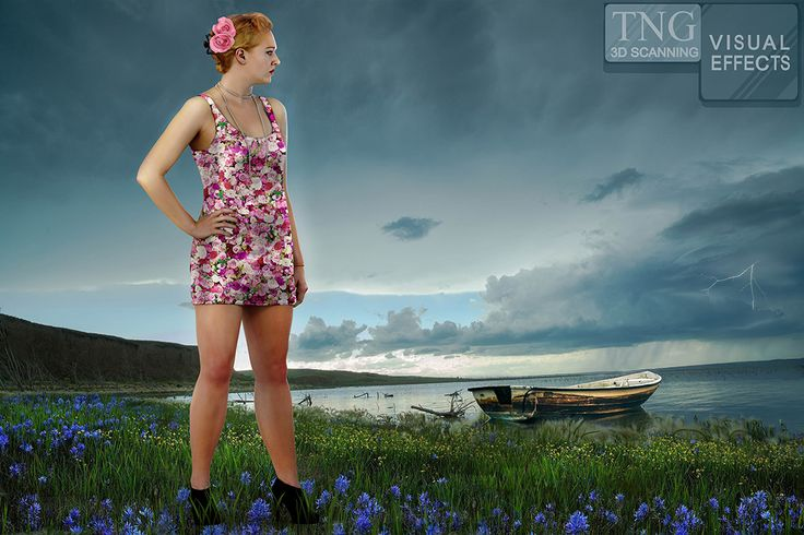 Lakeside Beauty in 3D. This is a pretty composition with a 3D Scan of Cait.