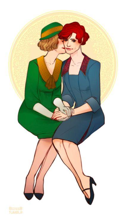 Lili & Gerda fan art from @tumblr artist BoissB # ...