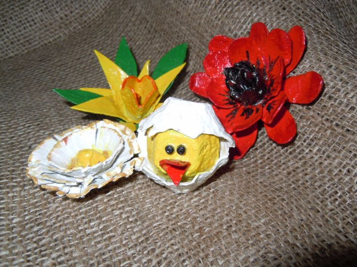2014 - Easter decoration from paper packaging for eggs-My own original designs - Facebook.com/Zdenka Quilling