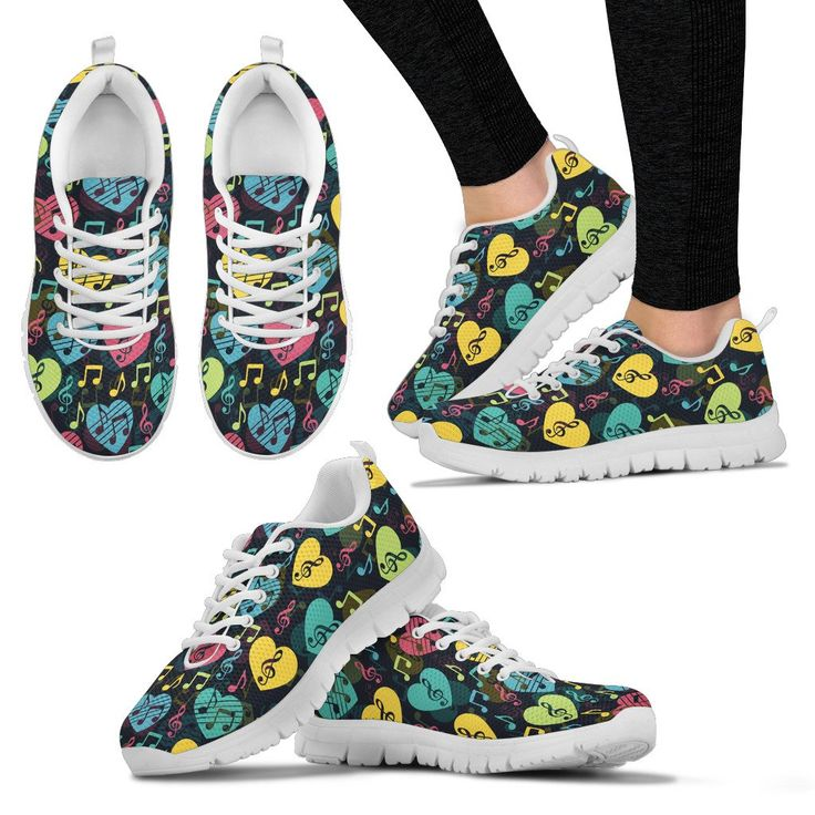 Just in: Womens Sneakers. Music Heart Design Shoes. http://oompah.shop/products/womens-sneakers-music-heart-design-shoes