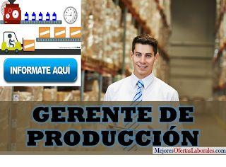 Empresa líder del sector industria de la construcción busca Gerente de Producción, persona con alta experiencia en el sector, ca...