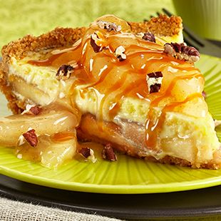 Caramel Apple Cheesecake Pie: Bake up an amazing Caramel Apple Cheesecake Pie, made with Duncan Hines Comstock® or Wilderness® More Fruit Apple Filling.