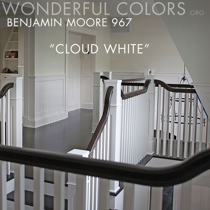 The Classic Warm Off White From Benjamin Moore Cloud White