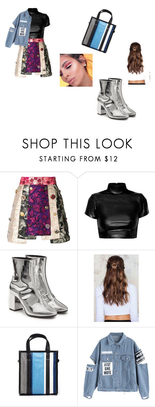 """.."" by alexa78-1 on Polyvore featuring Dolce&Gabbana, Balenciaga and NA-KD"