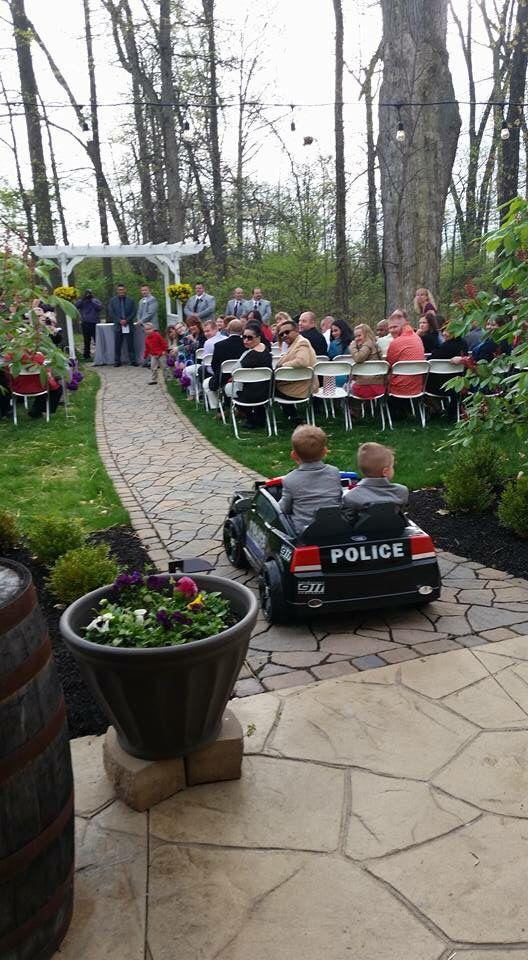 Columbus, Ohio Wedding Ceremony with Police Officer ring bearers! Www.brookshire.biz
