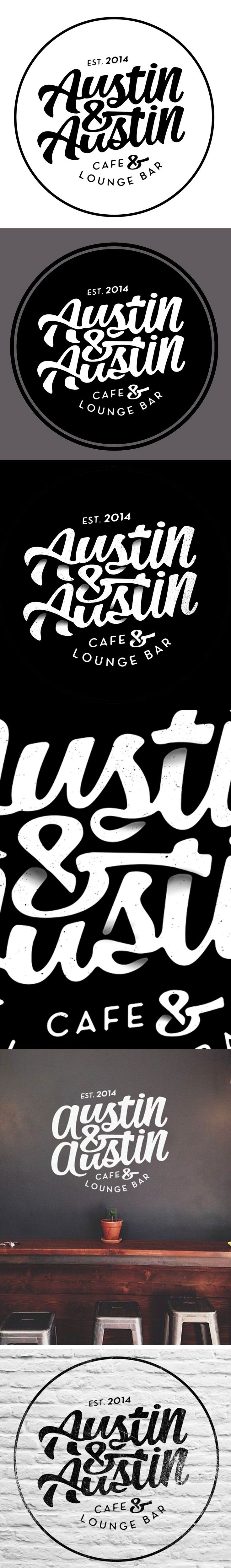 Logotype for Austin & Austin Cafe & Lounge Bar Alex Ramon Mas Design #Logos #Brand #Restaurant