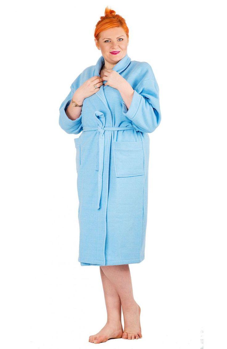Niebieski szlafrok - Modne Duże Rozmiary