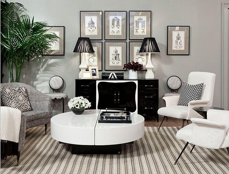 Celerie Kemble for Merida: http://nonsensesensibility.com/blog/2012/06/celerie-kemble-collection-for-merida/: Living Area, Kemble Interiors, Elle Decor, Black And White, Grey Wall, Black White, Cool Room, White Living Room, Celery Kemble