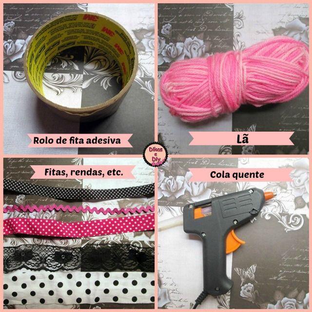 Faça você mesma - Diy - pulseira com rolo de fita adesiva - materiais -Blog Dikas e diy
