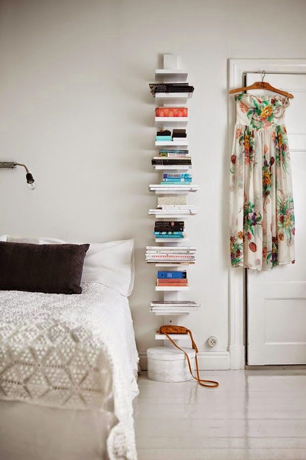 I think there's something like this at Ikea - might work for the little humans' bedroom for books and such things.