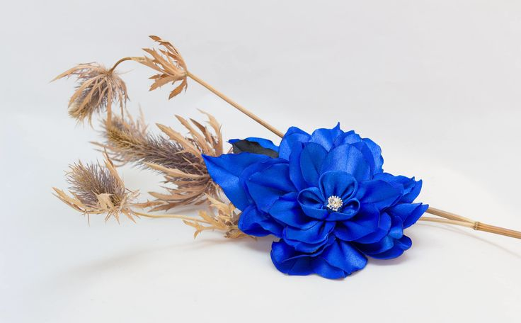 A personal favourite from my Etsy shop https://www.etsy.com/ie/listing/563381462/beautiful-blue-kanzashi-satin-ribbon