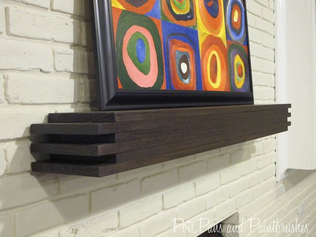 Need A Mantel This Modern Floating Can Be Either Traditional Fireplace Or Shelf For Any Room In The House